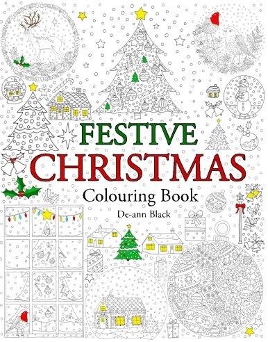 Festive Christmas: Colouring Book
