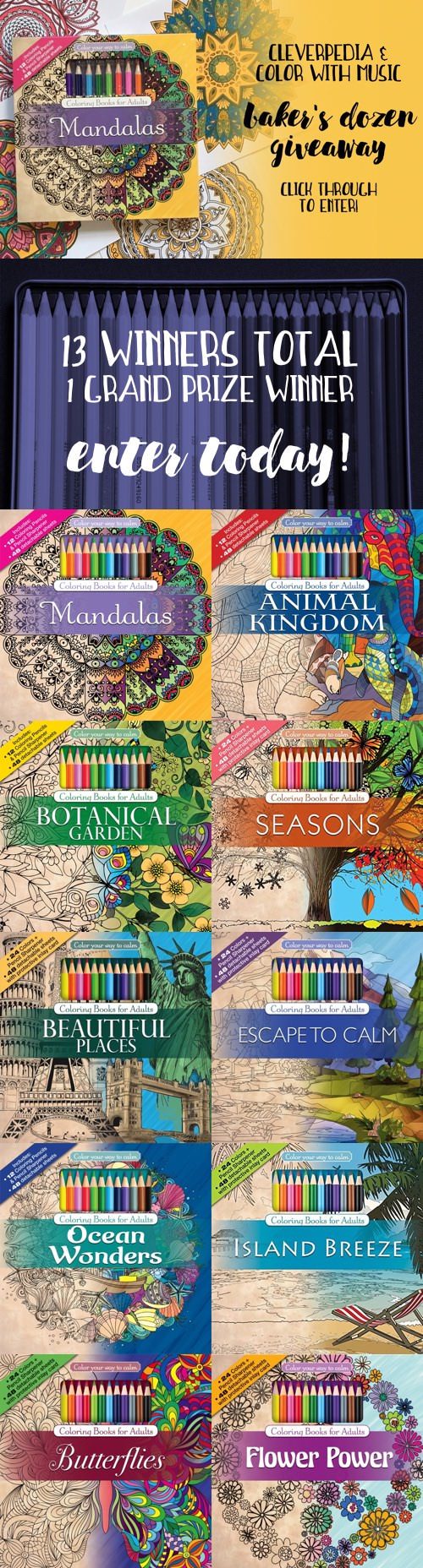 Enter To Win One Of 13 Prizes In The Cleverpedia Color With Music Bakers Dozen
