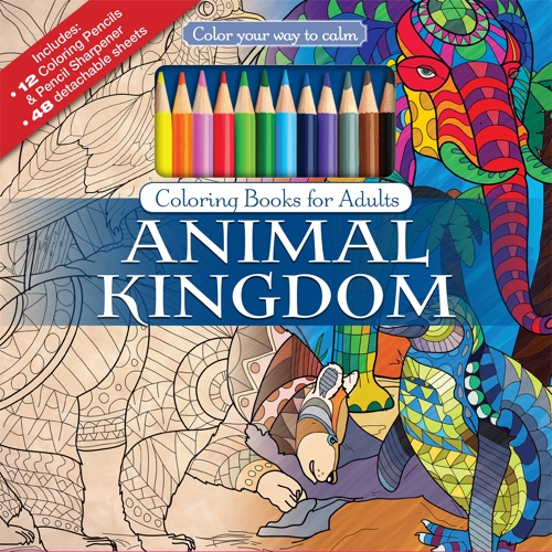Color Your Way To Calm Animal Kingdom Colored Pencils Sharpener Included