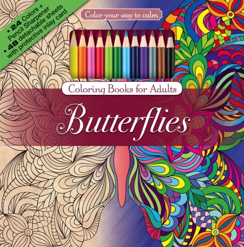 Color Your Way To Calm Butterflies Colored Pencils Sharpener Included