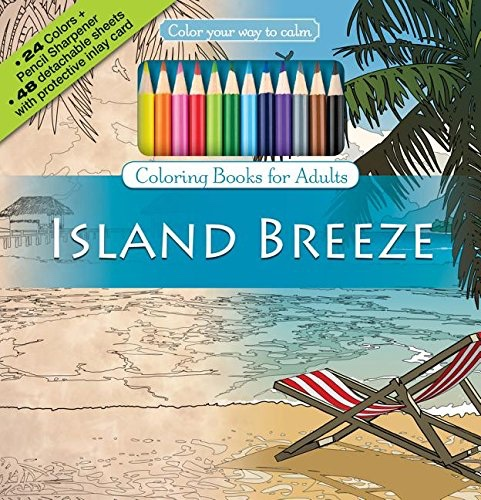 Color Your Way To Calm Island Breeze Colored Pencils Sharpener Included