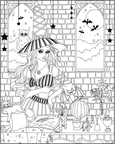 Spellbinding Images: A Fantasy Coloring Book of Witches: Extended Edition