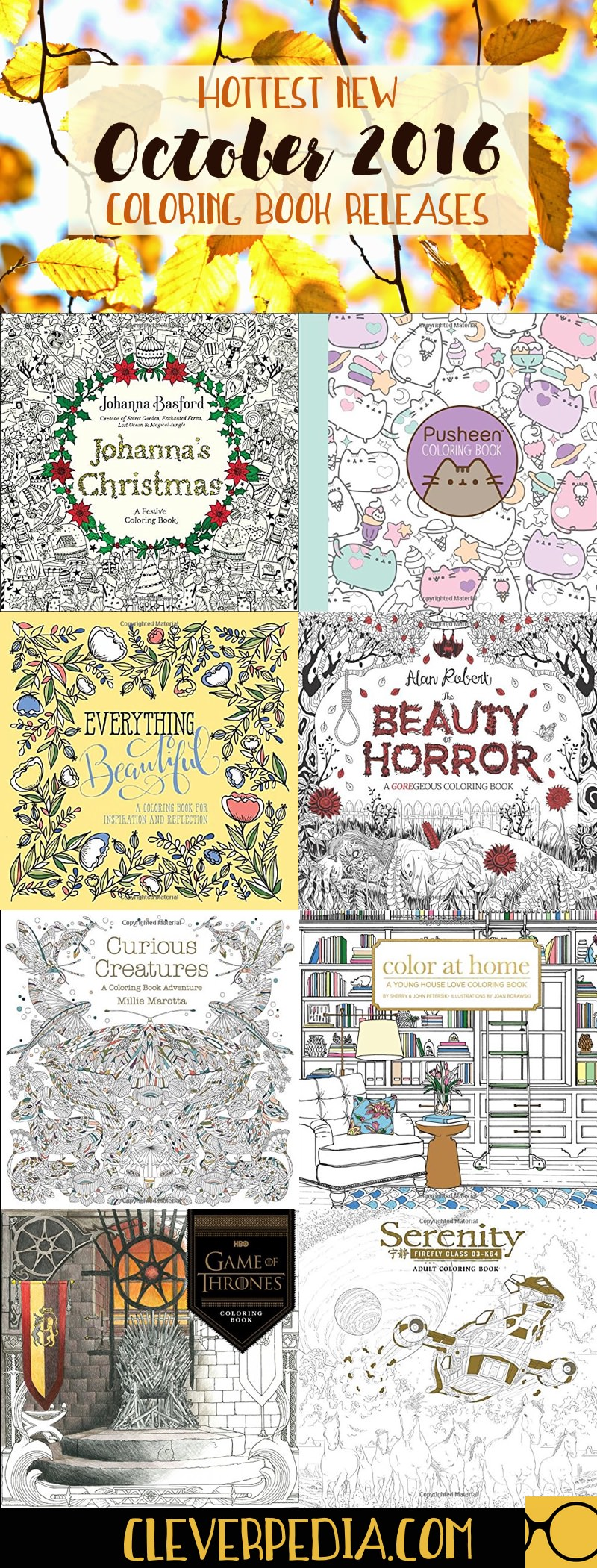 10 Hot New Coloring Book Releases For October 2016