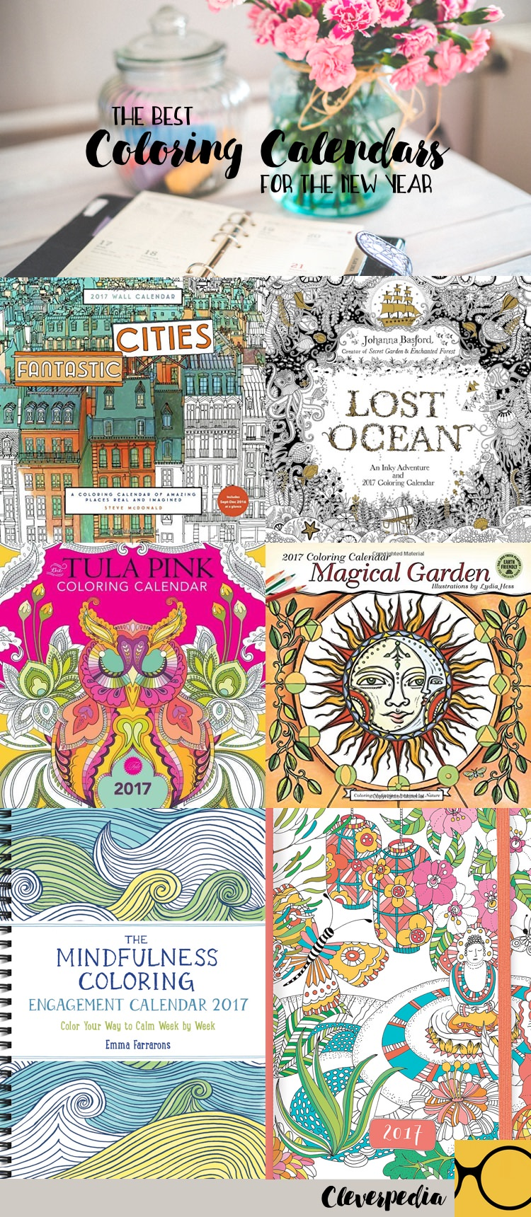 Love these coloring book calendars!