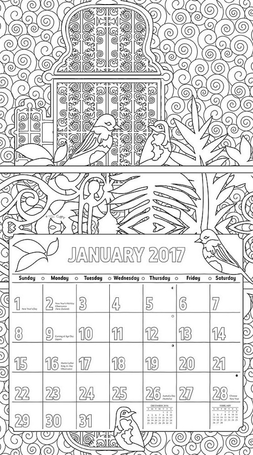 Reflections 2017 Coloring Calendar