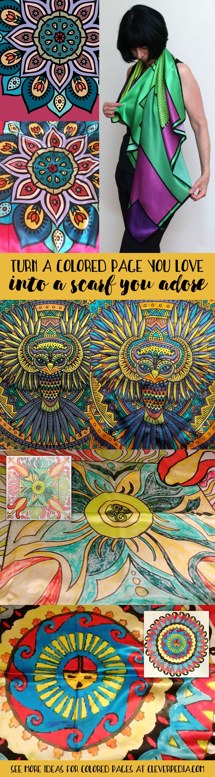 love this idea for what to do with a finished coloring page turn it into with convert pictures to coloring pages