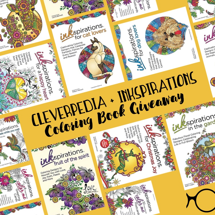 Enter The Cleverpedia Inkspirations Coloring Book Giveaway