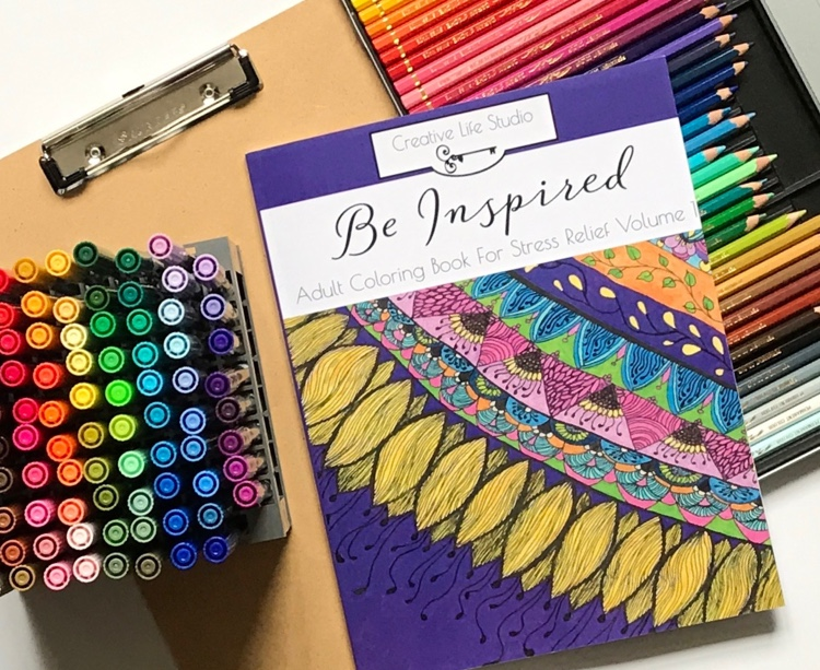 Be Inspired: Adult Coloring Book for Stress Relief vol. 1