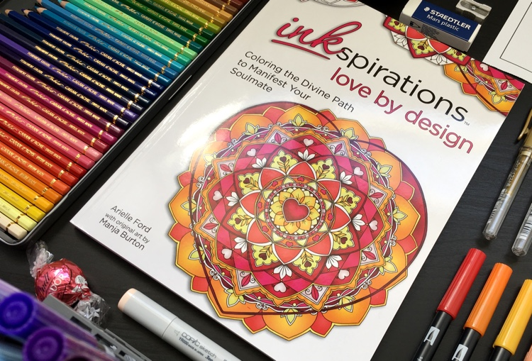 Inkspirations: Love by Design is a new soulmate coloring book.