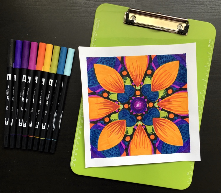 A page from Fractal Designs 1 colored by Adrienne from Cleverpedia!