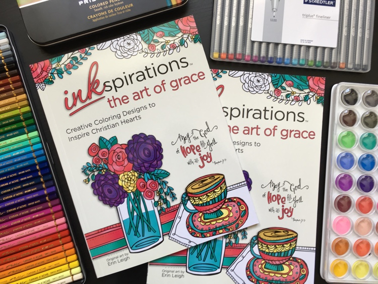 Inkspirations: The Art of Grace is a new adult coloring book for Christian women, illustrated by Erin Leigh.