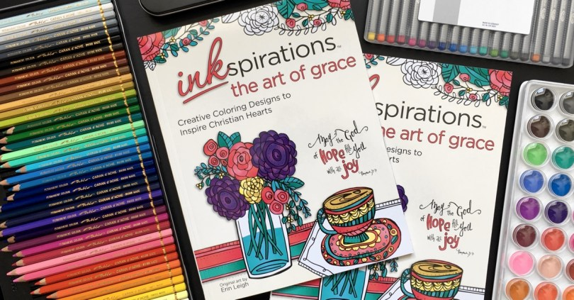 This gorgeous Christian coloring book, The Art of Grace, is full of proverbs and florals to color!