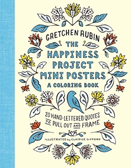 Featured new coloring book release: The Happiness Project Mini Posters - A Coloring Book