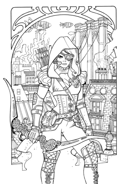 grimm fairy tales adult coloring book different seasons - Adult Fairy Coloring Pages