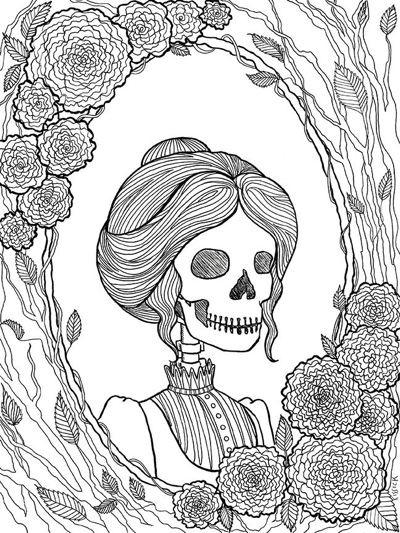 pretty dreadful halloween coloring page set - Halloween Coloring Books