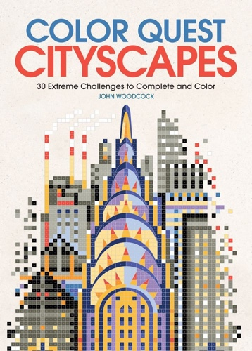 Color Quest: Cityscapes, a new adult coloring book/color by number book