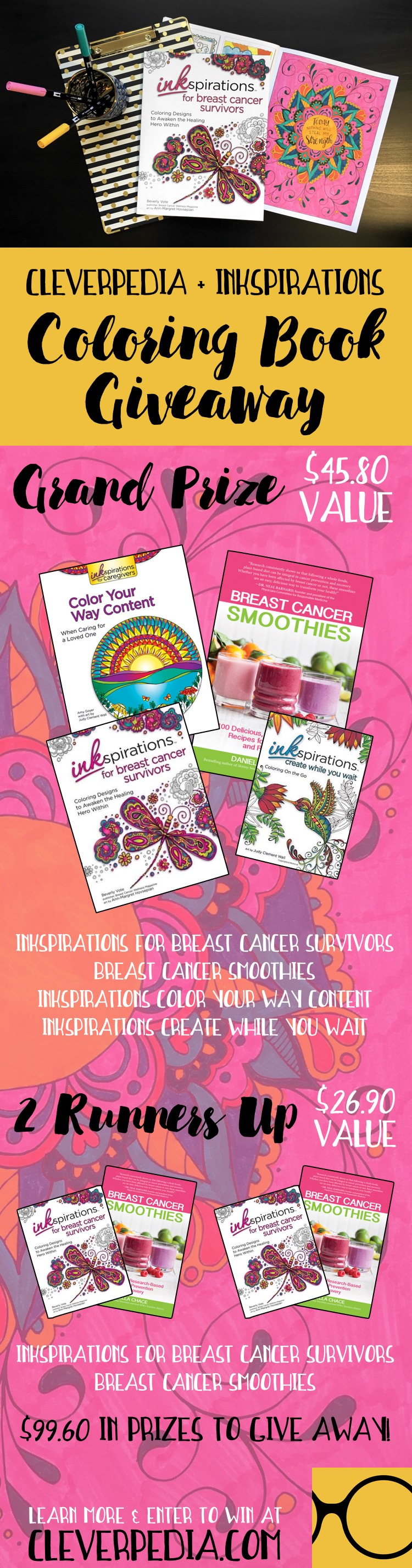 Inkspirations for breast cancer survivors review giveaway inkspirations for breast cancer survivors is an adult coloring book designed to encourage and empower women nvjuhfo Choice Image