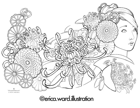 Hana Coloring Book By Erica Ward