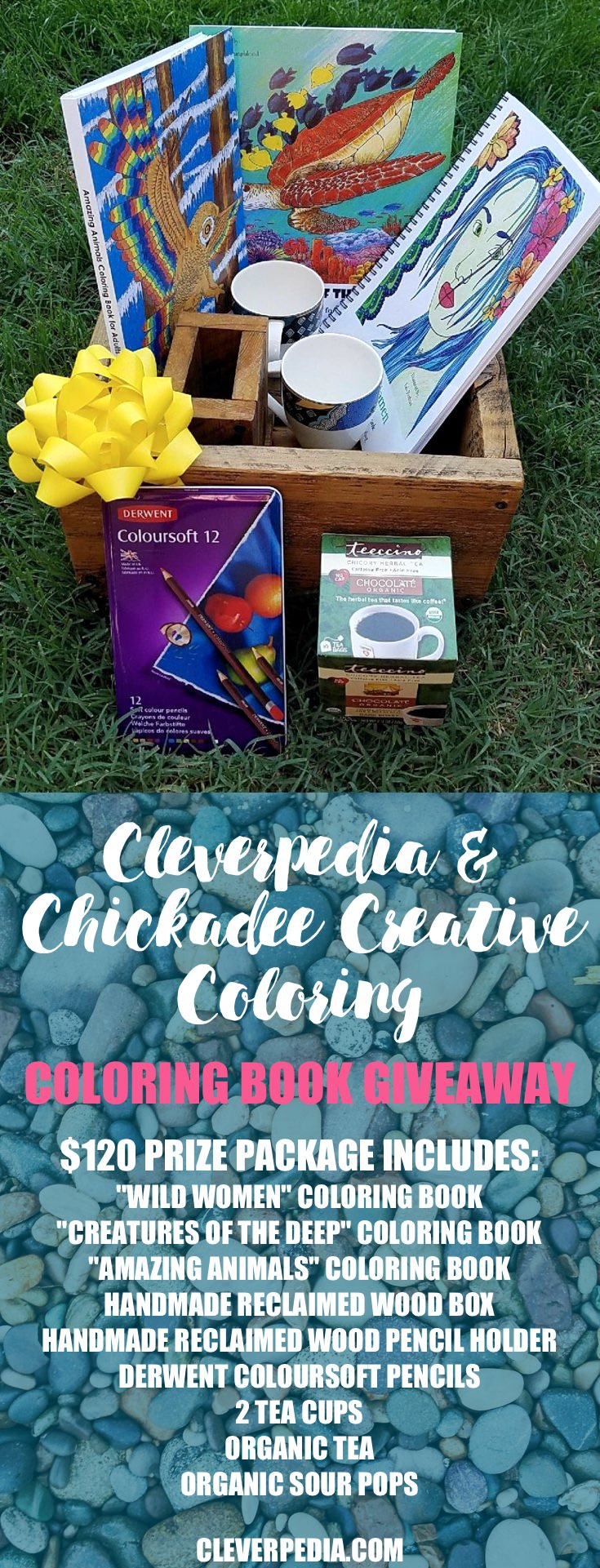 For our latest coloring book giveaway, we've partnered up with Chickadee Creative Coloring to bring you an exciting giveaway prize valued at $120. Read the review and enter to win at Cleverpedia.com!