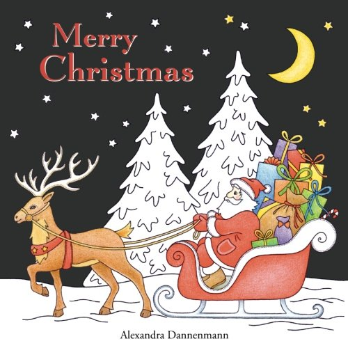Merry Christmas: Christmas Designs on a Black Background