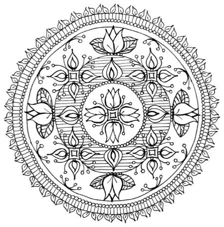 Splendid Symmetries: A Coloring Book for Teens & Adults