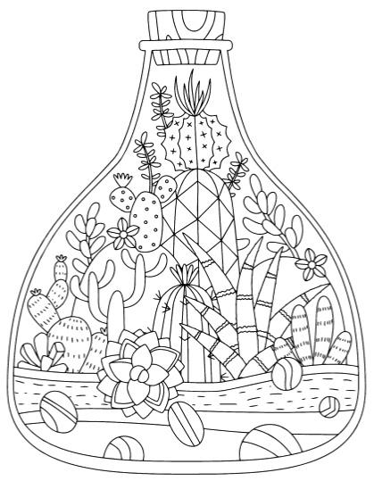 Best Succulent & Cactus Coloring Books & Pages - Cleverpedia