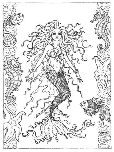 Mermaids: Coloring Book by Christine Karron