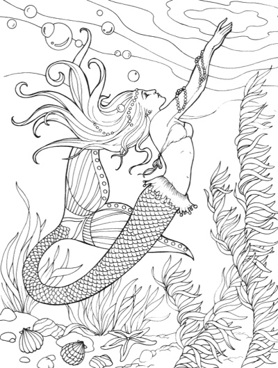 Best Mermaid Coloring Pages & Coloring Books - Cleverpedia