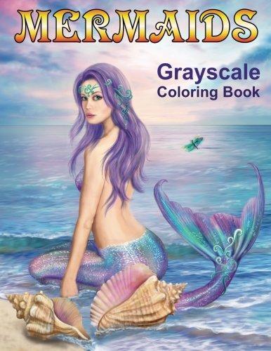 Mermaids Grayscale Coloring Book by Alena Lazareva