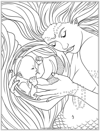 Mermaids: Calm Ocean Coloring Collection by Selina Fenech