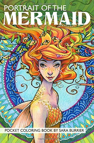 Portrait of the Mermaid Travel-Sized Coloring Book