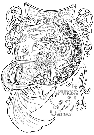 Best Mermaid Coloring Pages Coloring Books Cleverpedia