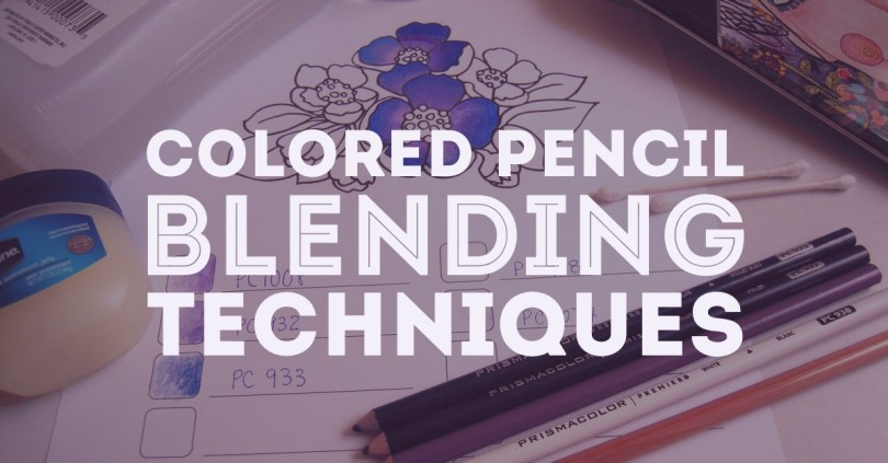 Ready to learn some advanced colored pencil blending techniques? Learn how to blend colored pencils with solvents, blending pencils, and more!