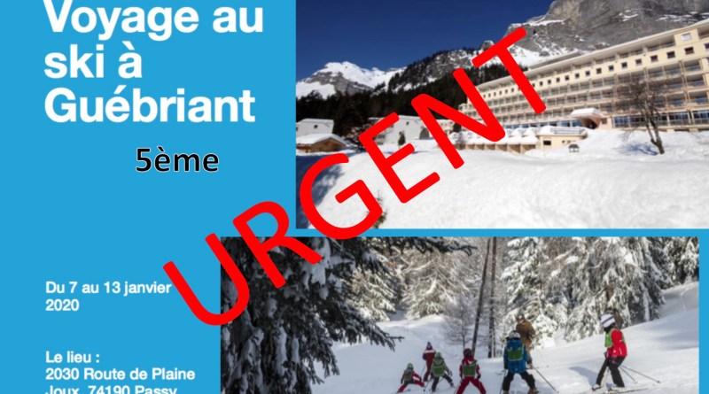 URGENT : Voyage à Guebriant