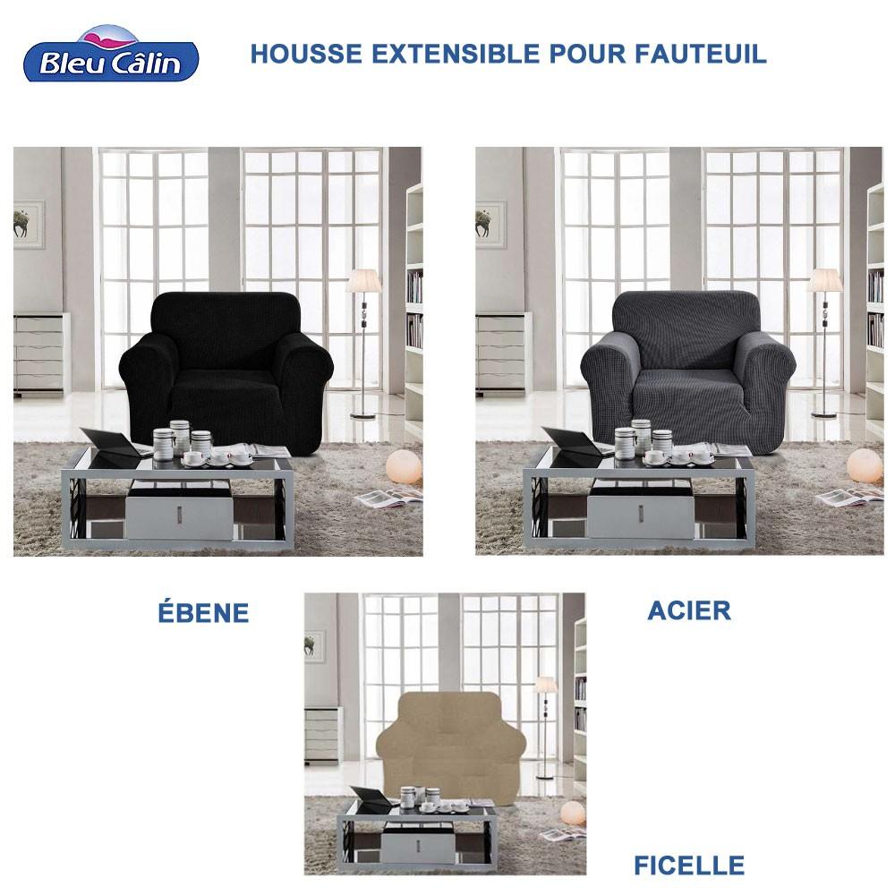 housse fauteuil extensible l 85 a 115 cm