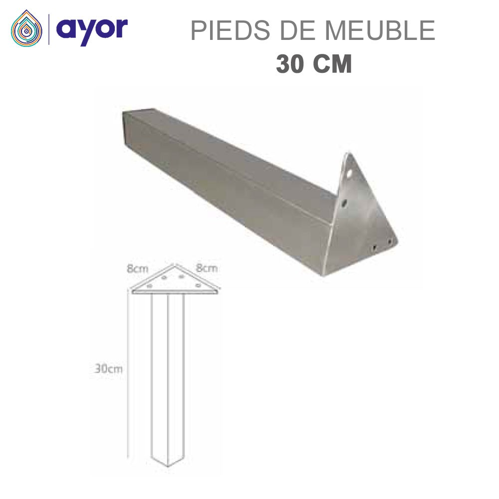 Pieds 30 Cm Lot De 2 Meuble De Salle De Bain