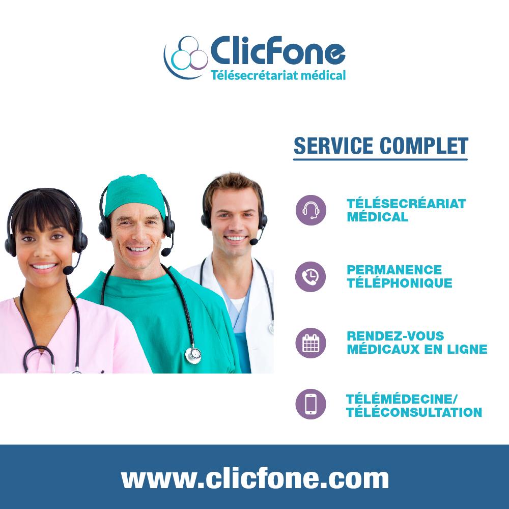 ClicFone Télésecrétariat Télémédecine