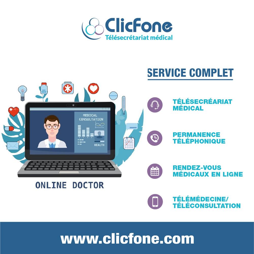 ClicFone télésecrétariat Martinique