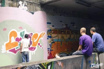 Welcome Coline - Graffiti Mural Chambéry - 2015-19