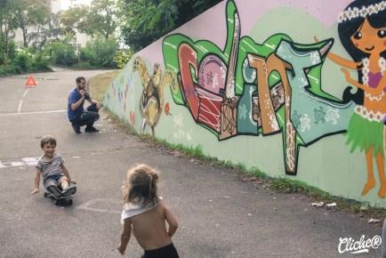 Welcome Coline - Graffiti Mural Chambéry - 2015-23