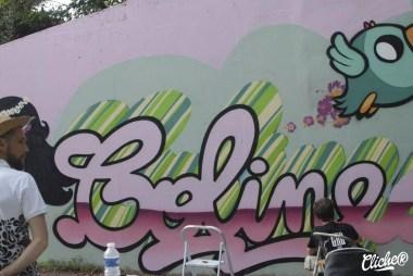 Welcome Coline - Graffiti Mural Chambéry - 2015-24
