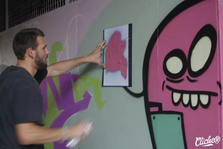 Welcome Coline - Graffiti Mural Chambéry - 2015-25