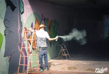 Welcome Coline - Graffiti Mural Chambéry - 2015-3