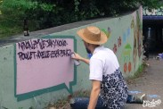 Welcome Coline - Graffiti Mural Chambéry - 2015-30