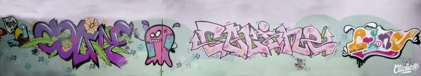 Welcome Coline - Graffiti Mural Chambéry - 2015-33