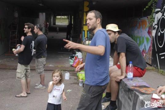 Welcome Coline - Graffiti Mural Chambéry - 2015-9