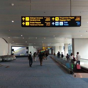ジャカルタの新しい第3ターミナルに到着。