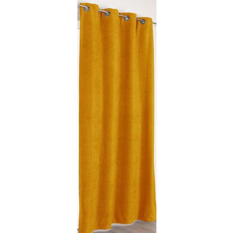 rideau a œillets jaune moutarde alaska linder