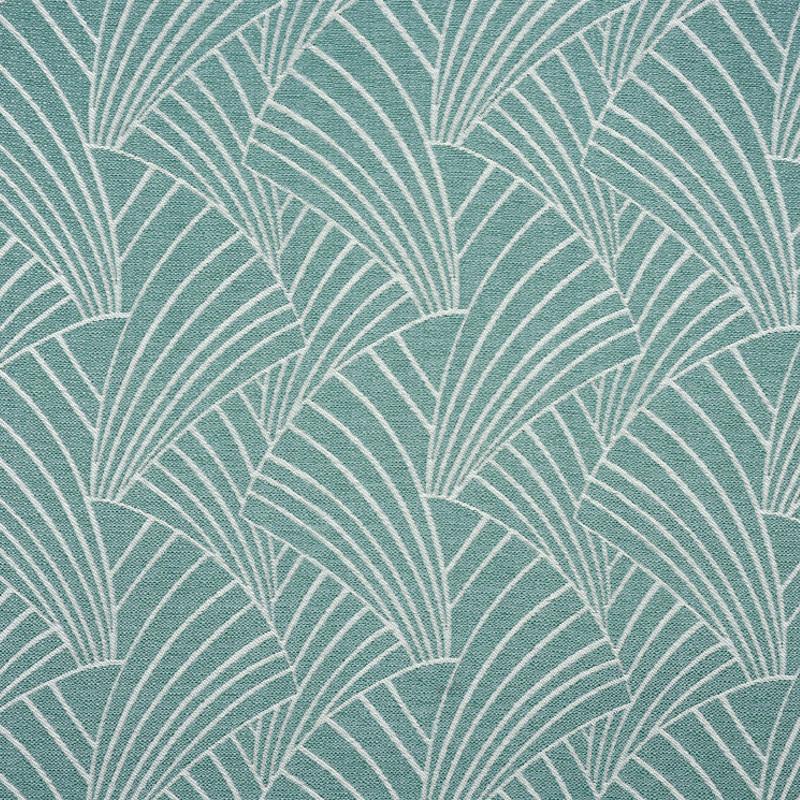 rideau a œillets motif vert d eau art deco linder