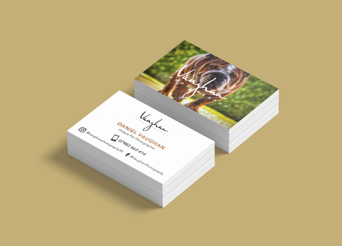 Vaughan Photography Business Card Design